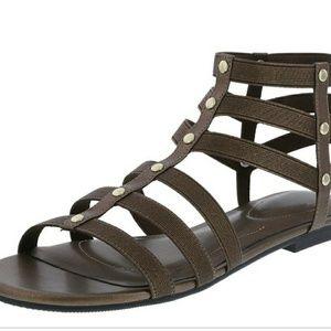 Dexflex Comfort Black Silver Beaded Sandals